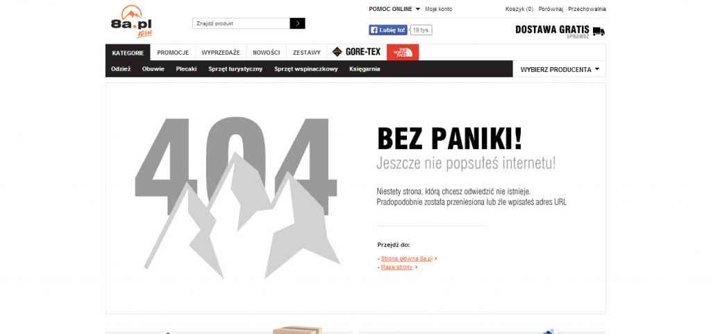 Przykład strony 404 - 8a.pl