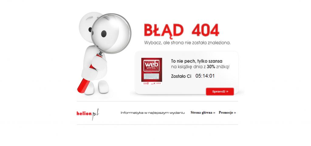 Przykład strony 404 helion.pl