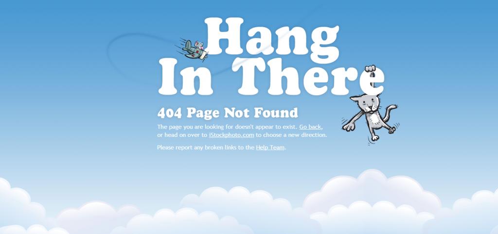 Przykład strony 404 -istockphoto.com